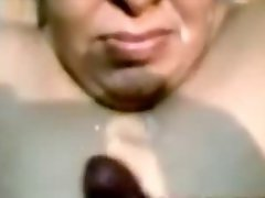 Sensual indian Aunty Dick sucking And Cumshot on Face