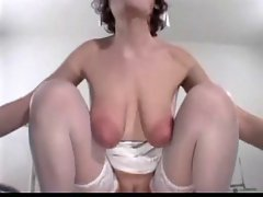 Sensual nurse Saggy hooters Big areolas Fabulous knockers