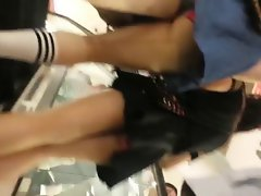 Singapore Saucy teens Upskirt