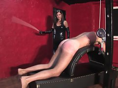 18 years old dark haired mistress caning