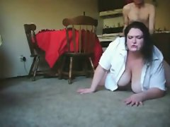 Sensual Big Heavy Cute bbw screwing with her bony BF