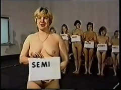 Retro Housewifes Nude Catfight Competition