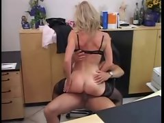 GERMAN Mum Banged IN THE OFFICE
