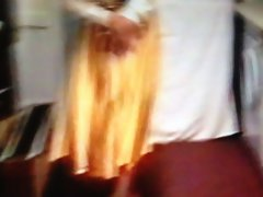 Gold Satin Skirt Dirty wife Dominated by Pervy Husband