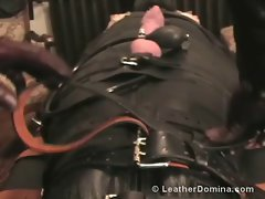 The Leather Domina - Leather Bondage - Leather Fetish