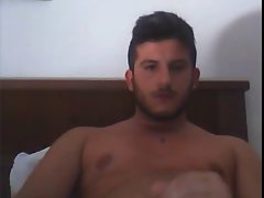 italian guy, cumshot in cam