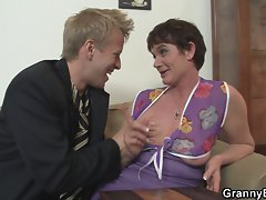Her shaggy experienced twat is drilled by stiff 18 years old phallus