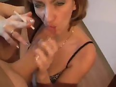 Blond Smoking Filthy bitch Dick sucking
