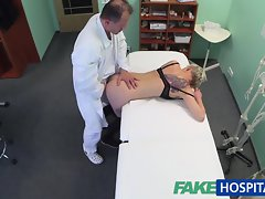FakeHospital Tempting blonde tattoo slutty girl banged brutal by her doctor