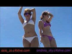 Dancing at the beach- andrea sky