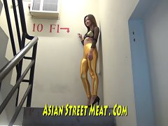 Great Gold Thai Film Star In Fire Escape