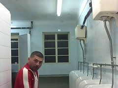 Two thugs in public toilet