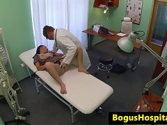 Czech slutty girl drilled at medical checkup