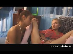 Lesbo playing 2 great lovely Saucy teens