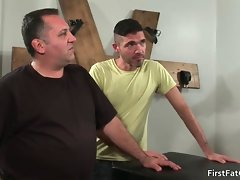 Great horny gay screwing and stroking film
