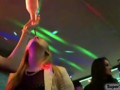 Attractive dirty ladies fellatio strippers at party film