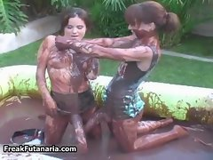 Two attractive sizzling teen slutty chicks with a fat dick video