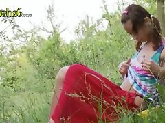 Natasha back to nature with her pussy video