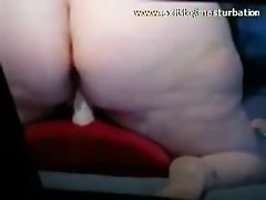 Thick Granny Melanie 57 years Riding Toy