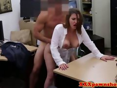 Buxom amateur hammered in a obscene pawnshop deal