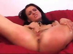 Thin Slave On High Heels Masturbating Spanked Fellatio Dick Master Jerking To Her Dirty ass On The Couch