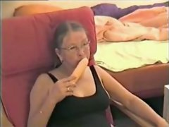 Aged dirty wife masturbating with her toy