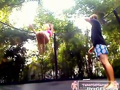 Saucy teen Gets A Creampie On The Trampoline