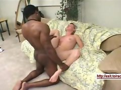 Facial from a Enormous ebony pecker for Lonny