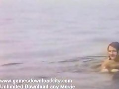 Sensual young lady naked - beach clip 2