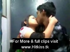 Desi couple kissing in resturent
