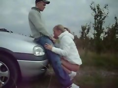 Teenager sex outside near car 111upl
