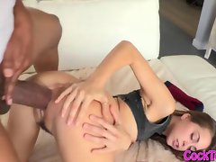 Stiff raunchy teen Riley Reid extremely huge shaft shagged rough