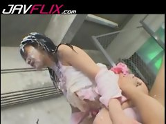 Sensual japanese babe banged dirty