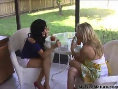Attractive Mummy Cougars Smoking Sex Triple