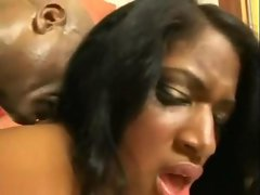 big titted latin girl accepts on a large ebony shaft