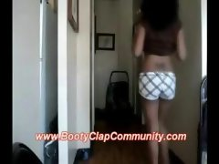 Luscious black sassy teen shaking that butt segment