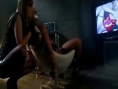 Buxom Tempting blonde Tied To Chair Mouth Taped Getting Her Nipples Vagina Fondled Whipped By Mistress