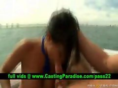 Priya Rai, chesty dark haired screwing on a boat