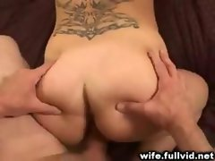 Mature whore accepts facial dick sucking