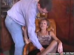 A French attractive mature gangbanged by 19yo men