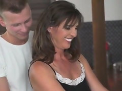 Fun with hot brunette Mom