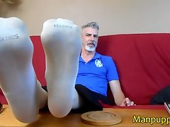 Giant Makes You Sniff His Socks - Daddy Giant 4 - Richard Lennox - Manpuppy