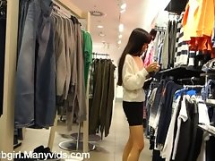 Public Clothes Store Shopping Fuck Anal and Squirt