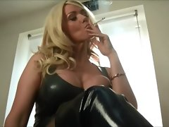 Lucy Zara smoking