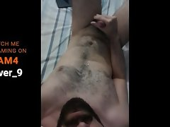 Hairy stud morning cum!