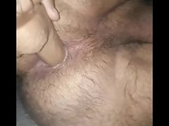 I fuck my hairy bears ass with dildo