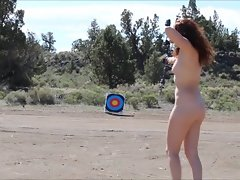 Nude Teen Hits Targets Out In The Open