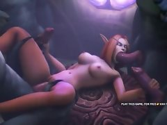 World of warcraft pornography parody, throatfucking