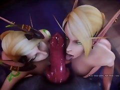 Werewolf dual breast banging in warcraft porno parody