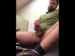Married cub drains off in his office